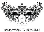 carnival mask venetian carnival. | Shutterstock .eps vector #730766830