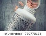 Supplement Facts  Closeup Of A...