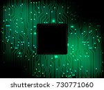 vector green motherboard and...