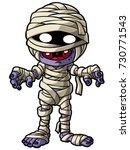 cute cartoon mummy standing | Shutterstock .eps vector #730771543