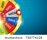 colorful wheel of luck or... | Shutterstock .eps vector #730774228