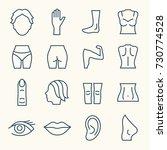 Body Parts Line Icon Set