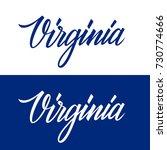 handwritten u.s. state name... | Shutterstock .eps vector #730774666