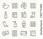 Pharmacy Line Icon Set