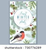 vector vintage banner with... | Shutterstock .eps vector #730776289