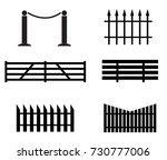 fence set icon on white... | Shutterstock .eps vector #730777006