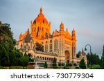 sunset view of the basilica of... | Shutterstock . vector #730779304