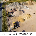 heaps of sand and heaps of soil ...   Shutterstock . vector #730780180
