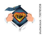 "man open shirt to show ""push up ... 