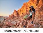 african american woman resting... | Shutterstock . vector #730788880