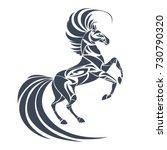 vector silhouette of horse.... | Shutterstock .eps vector #730790320