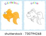coloring book page for... | Shutterstock .eps vector #730794268
