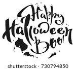 happy halloween boo lettering... | Shutterstock .eps vector #730794850