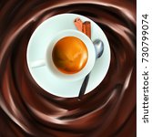 liquid chocolate  caramel or... | Shutterstock .eps vector #730799074