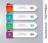 infographic arrows. 4 options ... | Shutterstock .eps vector #730799869