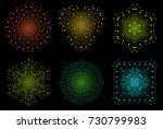 raster colorful bright lattice...   Shutterstock . vector #730799983