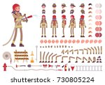 firefighter character creation... | Shutterstock .eps vector #730805224