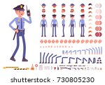 policeman character creation... | Shutterstock .eps vector #730805230