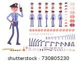 policeman character creation... | Shutterstock .eps vector #730805230