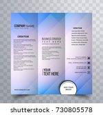 trifold brochure creative design | Shutterstock .eps vector #730805578