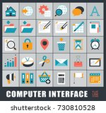 set of computer icons. icons... | Shutterstock .eps vector #730810528
