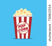 popcorn icon symbol food cinema ... | Shutterstock .eps vector #730815514