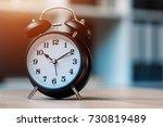 vintage clock on business... | Shutterstock . vector #730819489