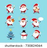 Collection Of Christmas Santa...