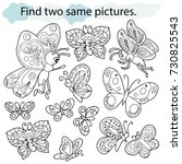 find two same pictures ... | Shutterstock .eps vector #730825543