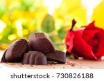valentine red roses and... | Shutterstock . vector #730826188