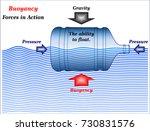 buoyancy  forces in action | Shutterstock .eps vector #730831576