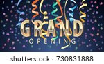 grand opening vector background.... | Shutterstock .eps vector #730831888
