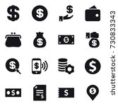16 vector icon set   dollar ... | Shutterstock .eps vector #730833343