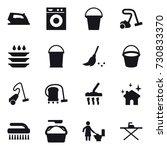 16 vector icon set   iron ... | Shutterstock .eps vector #730833370