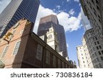 boston  the old state house  a... | Shutterstock . vector #730836184