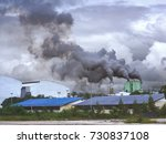 dirty air pollution from... | Shutterstock . vector #730837108