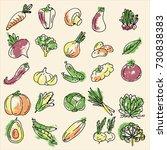 a set of vegetables | Shutterstock .eps vector #730838383