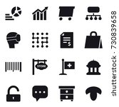 16 vector icon set   diagram ...