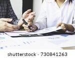 asian business adviser meeting... | Shutterstock . vector #730841263