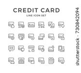 set line icons of credit card | Shutterstock .eps vector #730842094