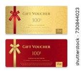 gift voucher  certificate or...   Shutterstock .eps vector #730844023