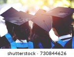 shot of graduation hats during... | Shutterstock . vector #730844626