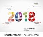 2018 celebration infographic... | Shutterstock .eps vector #730848493