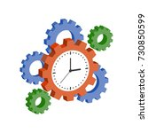 clock with cogwheels  time...