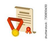 awards symbol. flat isometric...