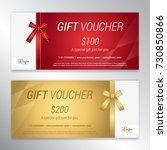 gift voucher  certificate or... | Shutterstock .eps vector #730850866