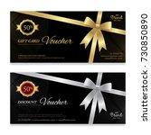 gift voucher  certificate or... | Shutterstock .eps vector #730850890