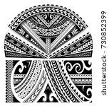 maori ethnic style sleeve... | Shutterstock .eps vector #730852399