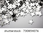 silver stars background with... | Shutterstock . vector #730854076