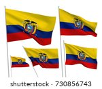 ecuador vector flags set. 5... | Shutterstock .eps vector #730856743